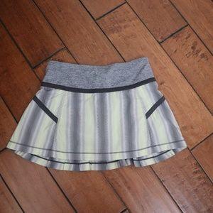 Lululemon Yellow Gray Run Reflection Skirt Skort